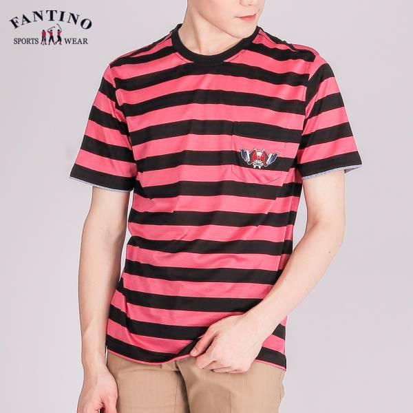 經典條紋圓領衫(男)-黑紅條紋48/50