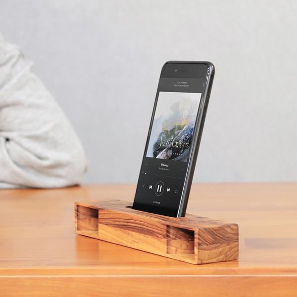 質感柚木手機擴音座 - B款 柚木,手機,擴音座