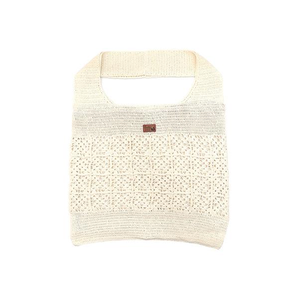 手作針織編織肩背托特包-米白色 手工布料,台灣設計,台灣製造,花布設計,質感袋包,文創設計,刺蝟,提袋,包包,居家良品,提袋,手提包,方包,肩背包,側背包