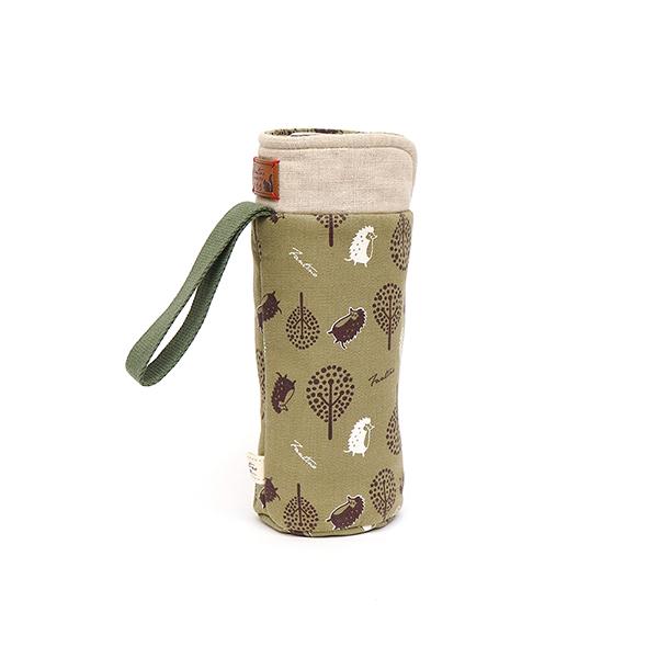 保溫防撞水壺袋/水瓶提袋(叢林躲貓貓)-抹茶綠 保溫袋,水壺袋,水壺提袋,保冰溫,手攜式,防撞,防摔,保溫瓶,玻璃瓶,水壺,學生,保溫杯套,隔熱保護,水杯套