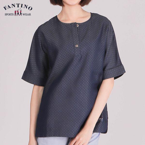 輕柔涼爽100%天絲棉圓領衫(女)-丹寧藍46/48/50