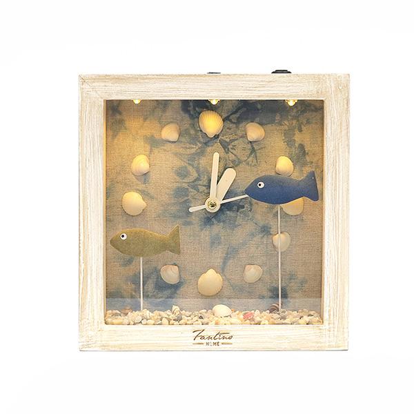 海洋深呼吸 手工木作時鐘-悠游幻境 家居品, 時鐘, 原木時鐘, 海洋時鐘, 手工時鐘, 療癒時鐘