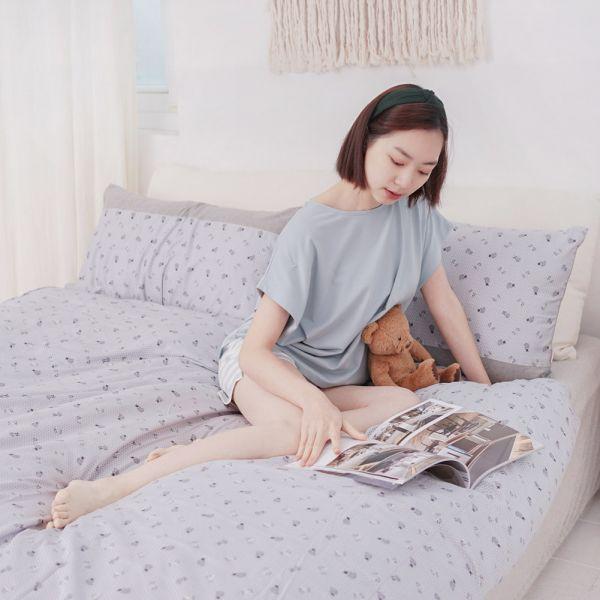 【被套】有機棉狐狸緹花剪花針織寢具-點點灰 女襪,台灣設計,台灣製造,文青,短襪,文創設計,刺蝟,膠原蛋白,居家良品,寢具,枕套
