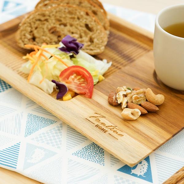天然柚木咖啡盤(30x20cm)-波點款/條紋款 柚木,廚房,餐具,筷子,環保