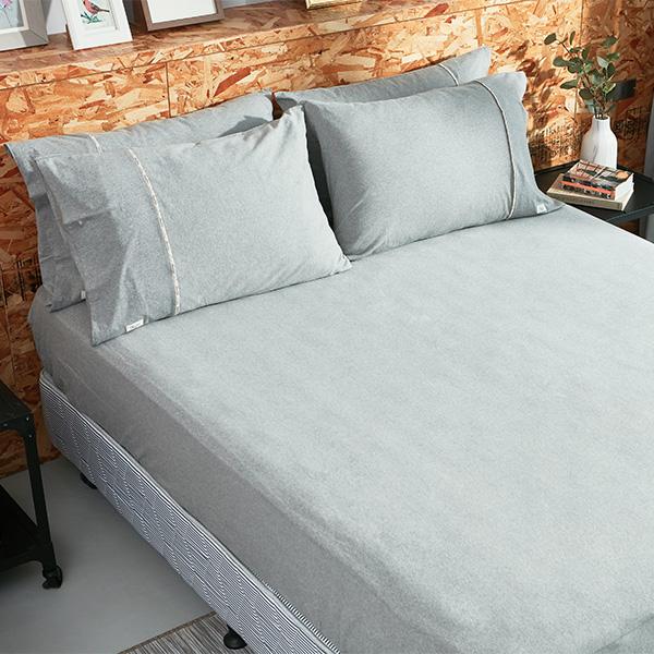 【床包】有機棉針織寢具-麻花灰 台灣設計,台灣製造,文青,短襪,文創設計,刺蝟,膠原蛋白,居家良品,寢具,床包,有機棉