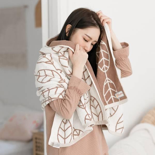 森林小葉厚紡吸水浴巾-100%純棉-共5色 棉,毛巾,浴巾,運動巾,毛浴巾,浴室,台灣製造,吸水