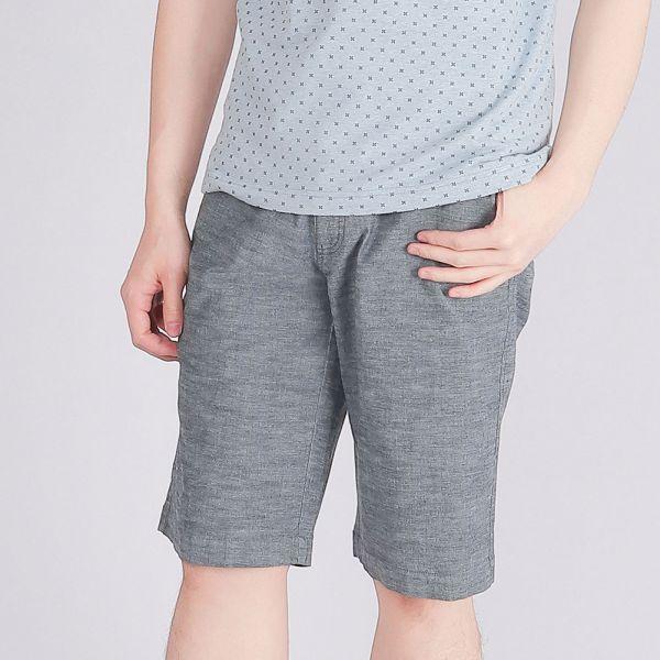 埃及棉休閒短褲(男)-灰