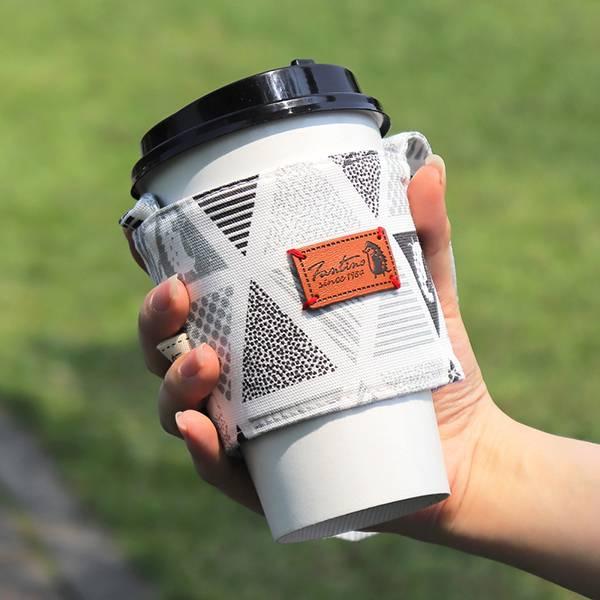 雙層隔熱環保飲料杯套/飲料提袋(三角密室)-岩石灰 飲料杯套,環保杯套,手提杯套,杯套,環保飲料提袋,飲料袋,飲料提袋,婚禮小物,禮物,外帶,環保,防水布,杯套,飲料,提袋,杯套提袋,環保杯袋,環保杯,飲料杯