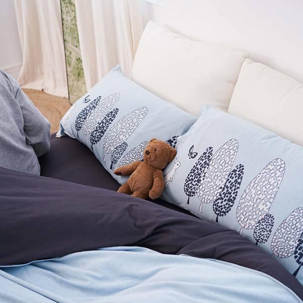 【床包】UMORFIL膠原蛋白針織寢具-岩石灰 女襪,台灣設計,台灣製造,文青,短襪,文創設計,刺蝟,膠原蛋白,居家良品,寢具,枕套