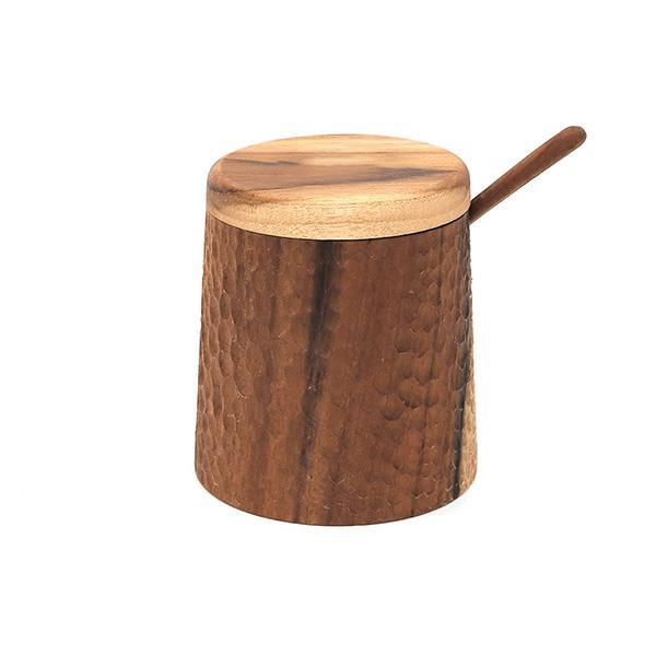 天然柚木調味罐-波點款/條紋款 柚木,廚房,餐具,筷子,環保