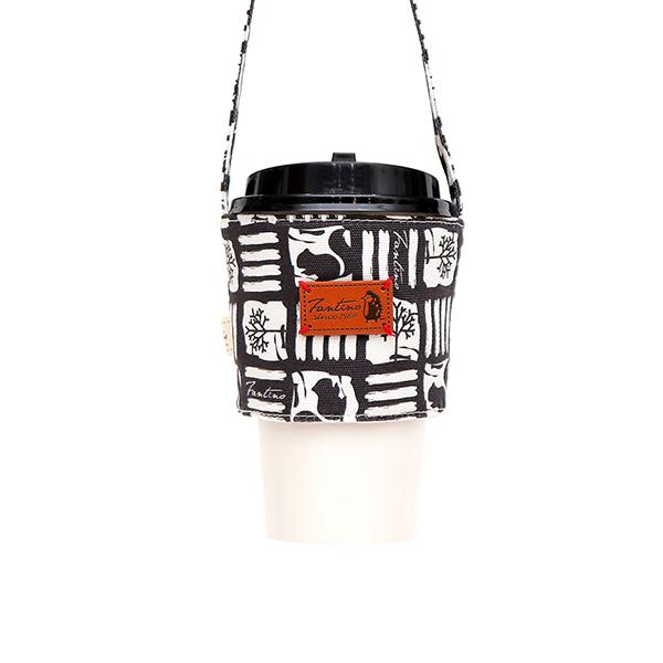 雙層隔熱環保飲料杯套/飲料提袋(解密古王國)-暗夜黑 飲料杯套,環保杯套,手提杯套,杯套,環保飲料提袋,飲料袋,飲料提袋,婚禮小物,禮物,外帶,環保,防水布,杯套,飲料,提袋,杯套提袋,環保杯袋,環保杯,飲料杯