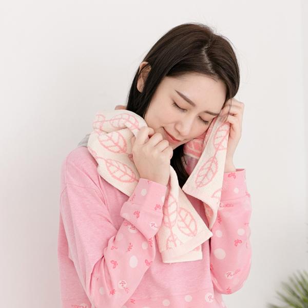 厚質手感色紗百分百棉吸水長型毛巾/運動巾-馬卡龍粉 棉,毛巾,浴巾,運動巾,毛浴巾,浴室,台灣製造,吸水