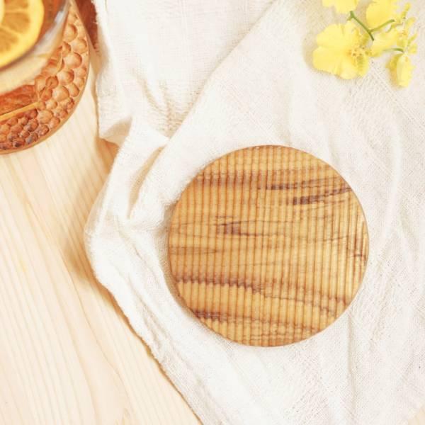 天然柚木圓形杯墊-波點款/條紋款 柚木,廚房,餐具,筷子,環保