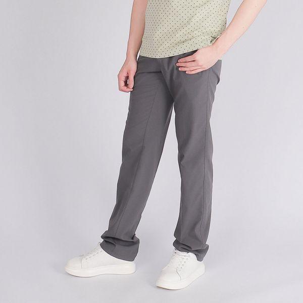 吸濕排汗休閒棉褲(男)-深灰