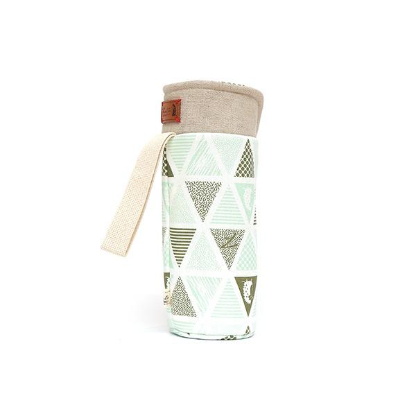 保溫防撞水壺袋/水瓶提袋(三角密室)-湖水綠 保溫袋,水壺袋,水壺提袋,保冰溫,手攜式,防撞,防摔,保溫瓶,玻璃瓶,水壺,學生,保溫杯套,隔熱保護,水杯套