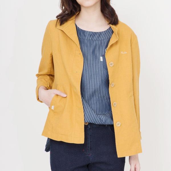 亞麻立領休閒外套(共3色) 亞麻,外套,服裝,女裝,fantino