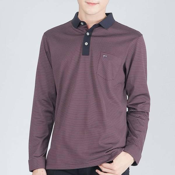 埃及棉親膚POLO衫(男)-暗紫
