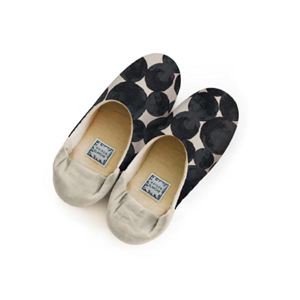 Fantino x Debby 內裡鋪棉保暖室內拖鞋 - Maison Blanche バブーシュ サイズ2-ラ・メール グレー(日本製)