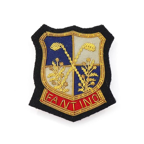 日本設計印度絲手工銅線胸章 - 高爾夫徽章(共2色) 印度絲,手工,刺繡,銅線,彈簧絲,高爾夫,胸章,徽章