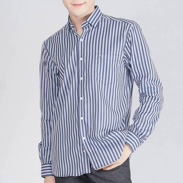 奧地利埃及棉商務襯衫(男)-淺藍