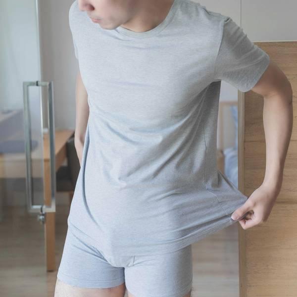 95% GOTS認證有機棉素面短袖男性內衣-共4色 睡衣,家居服,居家服,家居褲,居家褲,舒服睡衣,umorfil,膠原蛋白紗,美膚膠原蛋白,有機棉,親膚