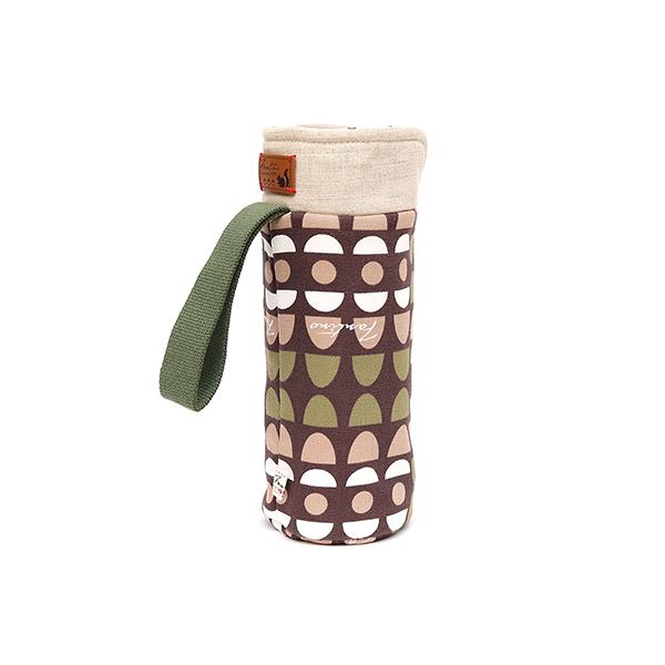 保溫防撞水壺袋/水瓶提袋(水玉迷宮)-綠水玉 保溫袋,水壺袋,水壺提袋,保冰溫,手攜式,防撞,防摔,保溫瓶,玻璃瓶,水壺,學生,保溫杯套,隔熱保護,水杯套