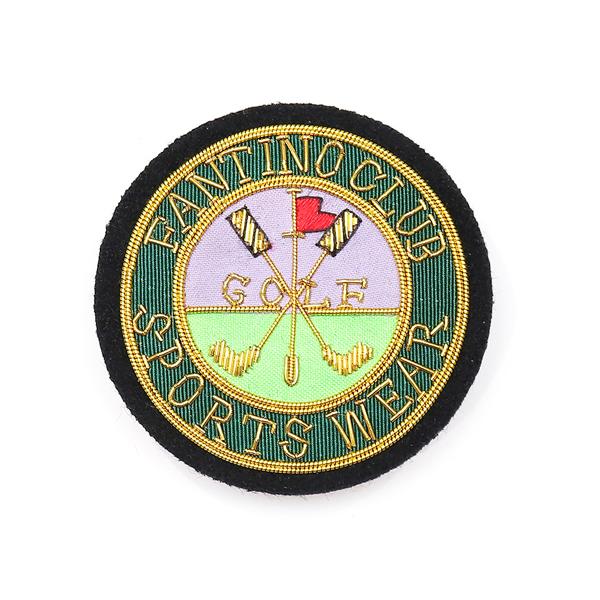 日本設計印度絲手工銅線胸章 - 高爾夫圓徽(共2色) 印度絲,手工,刺繡,銅線,彈簧絲,高爾夫,胸章,徽章