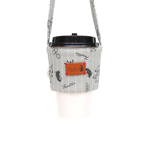 雙層隔熱環保飲料杯套/飲料提袋(漂浮森林)-月球灰 飲料杯套,環保杯套,手提杯套,杯套,環保飲料提袋,飲料袋,飲料提袋,婚禮小物,禮物,外帶,環保,防水布,杯套,飲料,提袋,杯套提袋,環保杯袋,環保杯,飲料杯