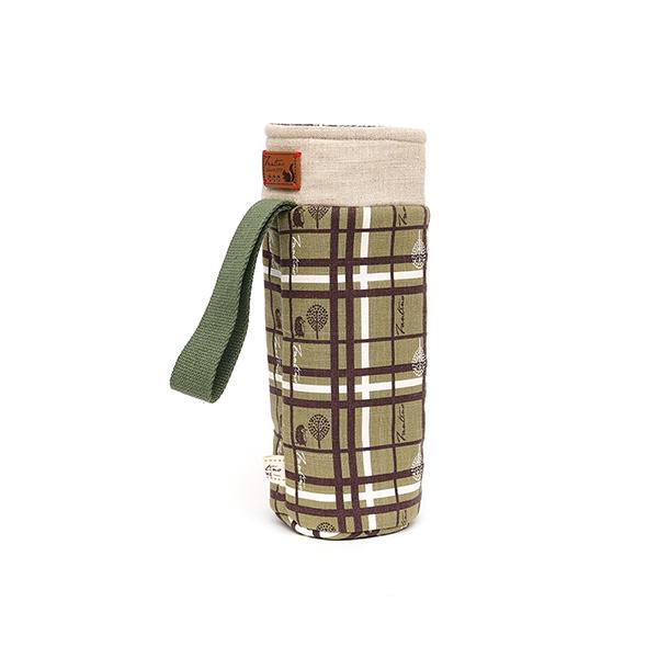 保溫防撞水壺袋/水瓶提袋(格紋街區)-抹茶綠 保溫袋,水壺袋,水壺提袋,保冰溫,手攜式,防撞,防摔,保溫瓶,玻璃瓶,水壺,學生,保溫杯套,隔熱保護,水杯套