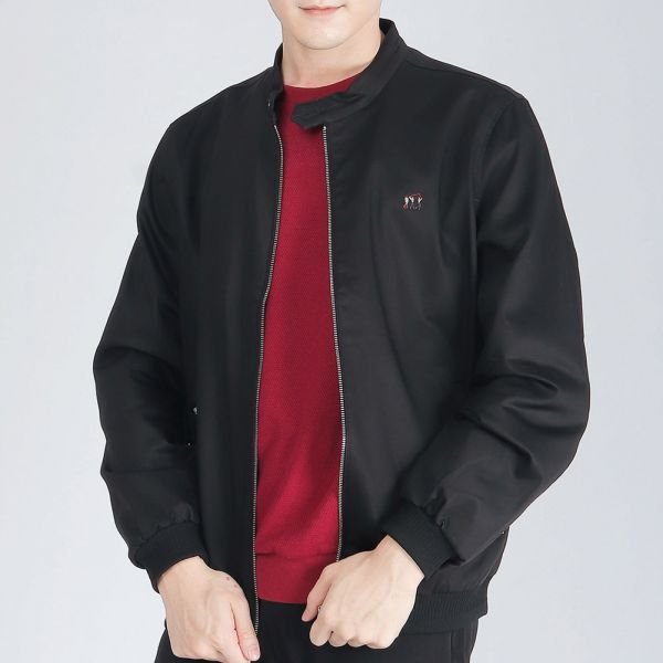 莫代爾Modal彈性騎士外套(男)-黑色