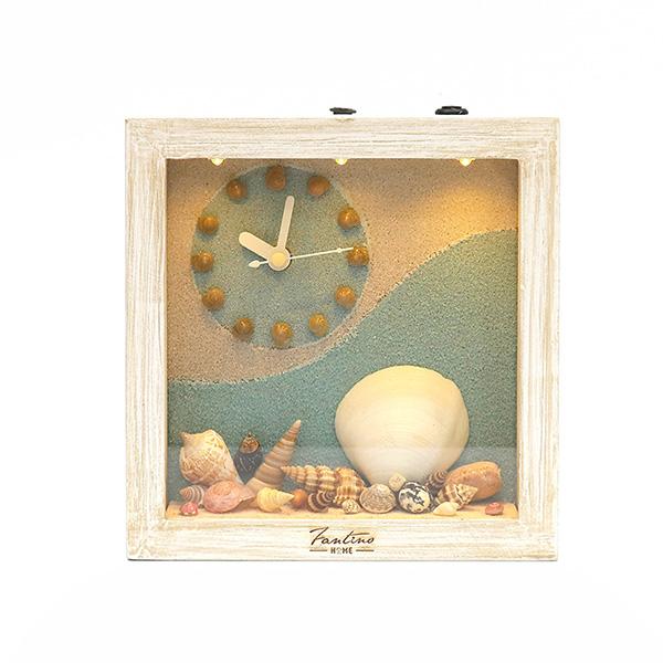 海洋深呼吸 手工木作時鐘-貝殼天堂 左鐘 家居品, 時鐘, 原木時鐘, 海洋時鐘, 手工時鐘, 療癒時鐘