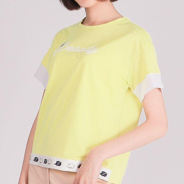 抗UV+吸濕排汗圓領衫(女)-檸檬黃