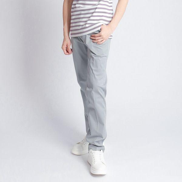埃及棉休閒棉褲(男)-藍印細條