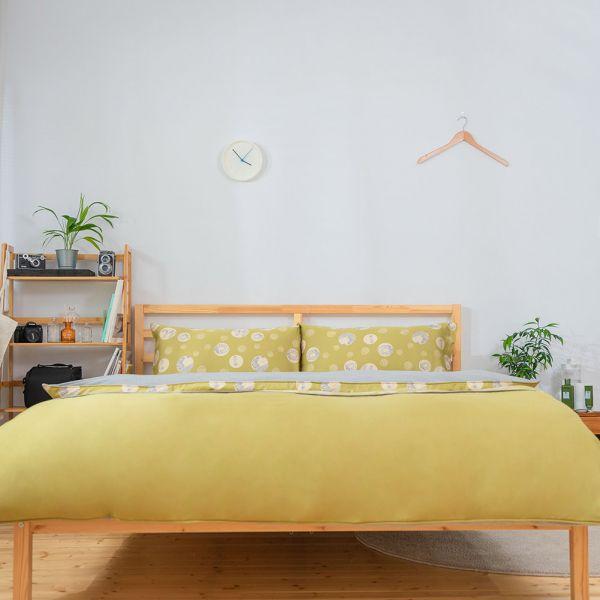 【組合】冬夏兩用寢具套組-莫代爾天絲UMORFIL美膚膠原蛋白紗-橄欖綠 女襪,台灣設計,台灣製造,文青,短襪,文創設計,刺蝟,膠原蛋白,居家良品,寢具,枕套