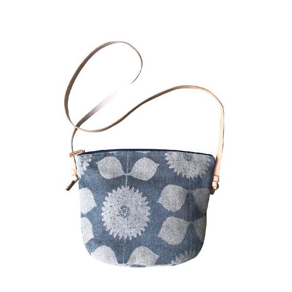 Fantino x Debby 側背包/背袋 - Maison Blanche ポシェット 尾州オリジナルファブリック-鳶尾(日本製)