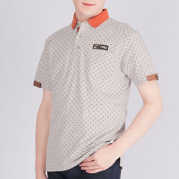 有機棉POLO衫(男)-麻花棕