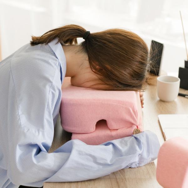 有機棉午休趴枕-麻花粉/腰枕靠枕午休枕3合一枕 午休枕, 午睡枕, 靠枕, 靠腰枕頭, 腰間枕, 腰枕