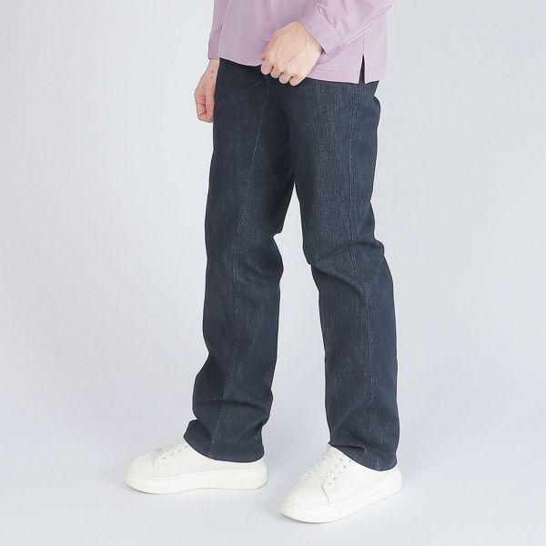 COOLMAX吸濕排汗埃及棉牛仔褲(男)-深丈青