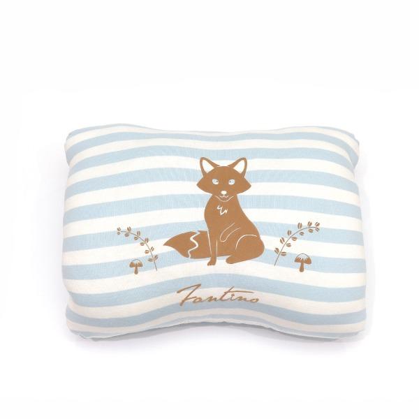 美膚纖維小狐狸暖手枕-天空藍