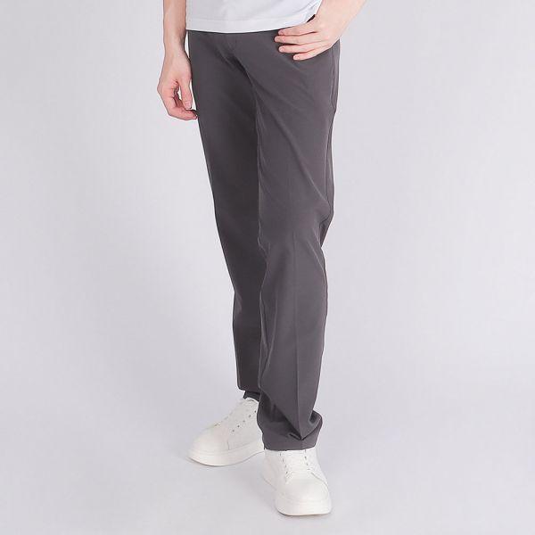 經典款吸濕排汗休閒長褲(男)-鐵灰
