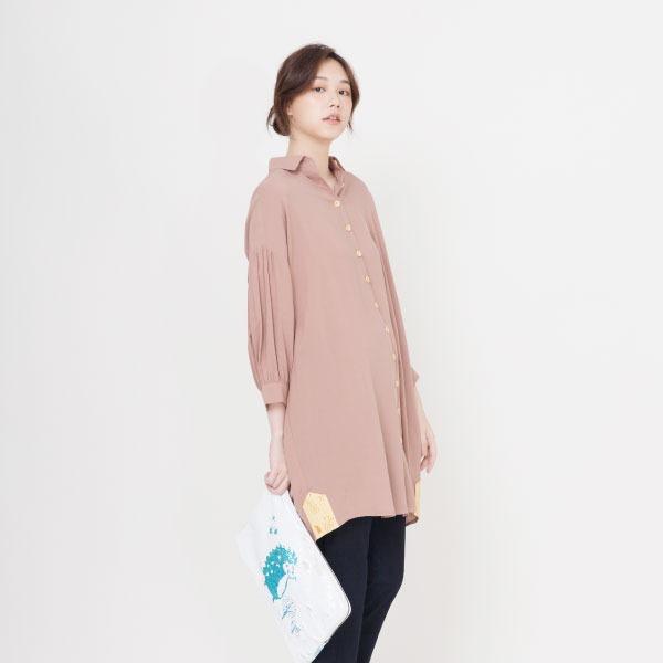輕涼長版休閒襯衫(共2色) 襯杉,服裝,女裝,fantino