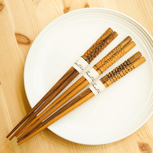 天然柚木筷子-波點款/條紋款 柚木,廚房,餐具,筷子,環保