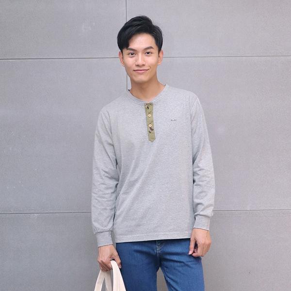 有機棉圓領排釦長袖上衣(共4色) 家居服,舒適,刺繡,台灣設計,台灣製造,文青,文創設計,刺蝟,居家良品