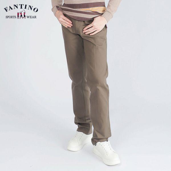 休閒棉褲(男)-軍綠