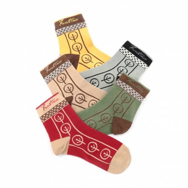 膠原蛋白抗菌除臭襪(落葉片片款)共5色 女襪,台灣設計,台灣製造,文青,短襪,文創設計,刺蝟,膠原蛋白,居家良品,襪子