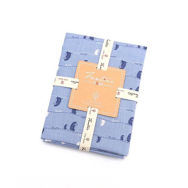 棉麻布料(漫步一線間)-天空藍  布,台灣設計,台灣製造,手工藝,布料,文創設計,刺蝟,手作,居家良品,棉麻,布料,服裝輔料,diy,手工製作,手工材料