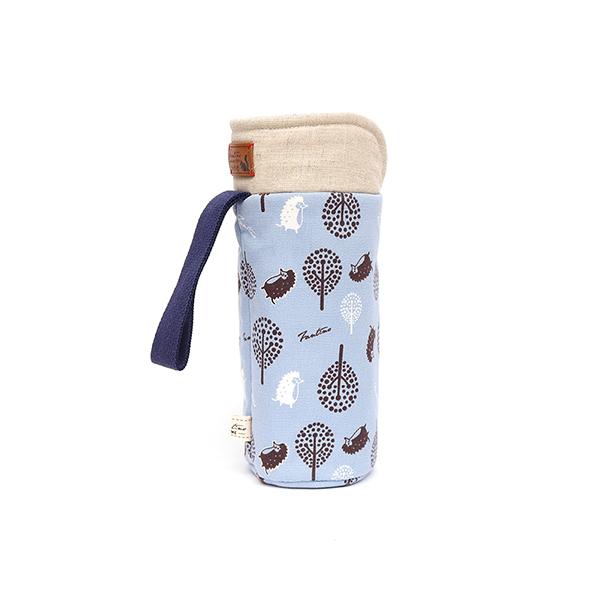 保溫防撞水壺袋/水瓶提袋(叢林躲貓貓)-天空藍 保溫袋,水壺袋,水壺提袋,保冰溫,手攜式,防撞,防摔,保溫瓶,玻璃瓶,水壺,學生,保溫杯套,隔熱保護,水杯套
