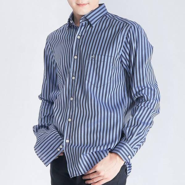 奧地利埃及棉商務襯衫(男)-深藍