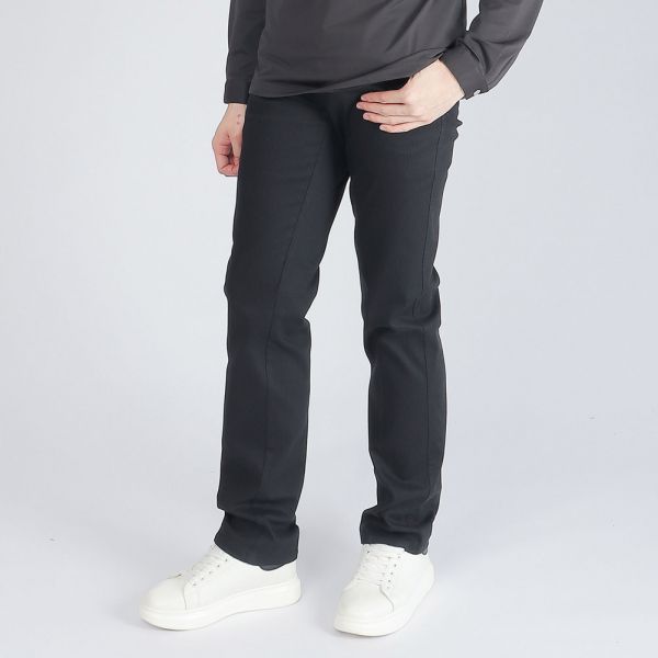 埃及棉休閒棉褲(男)-黑條紋