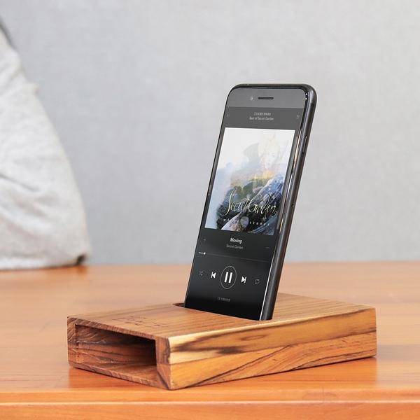 質感柚木手機擴音座 - D款 柚木,手機,擴音座